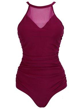 25b20946404 Product Image Starvnc Women Grenadine Splice See Through V Neck One Piece  Swimsuit