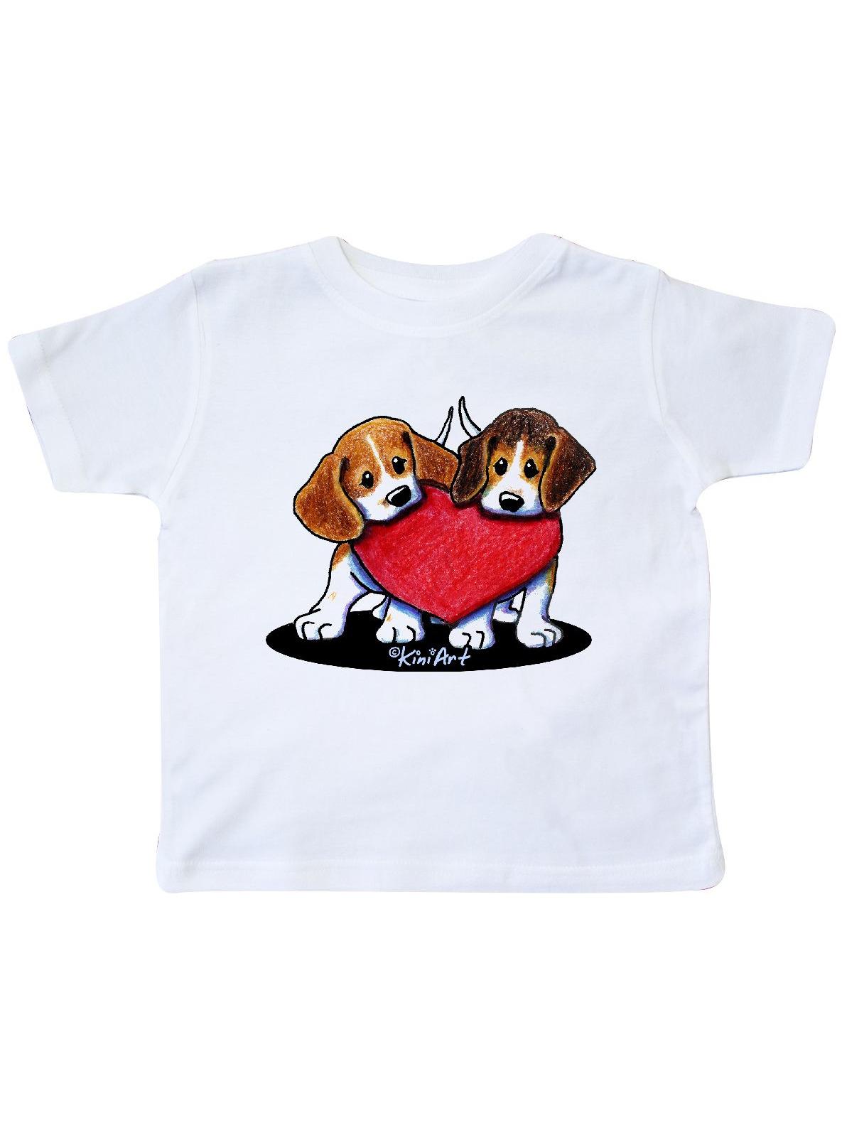 Beagle Heartfelt Duo Toddler T-Shirt - KiniArt