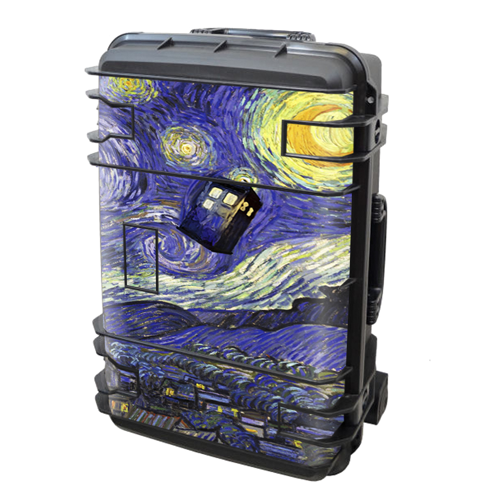 Skin Decal Vinyl Wrap for Seahorse SE-920 Case stickers skins cover / Tardis Starry Night