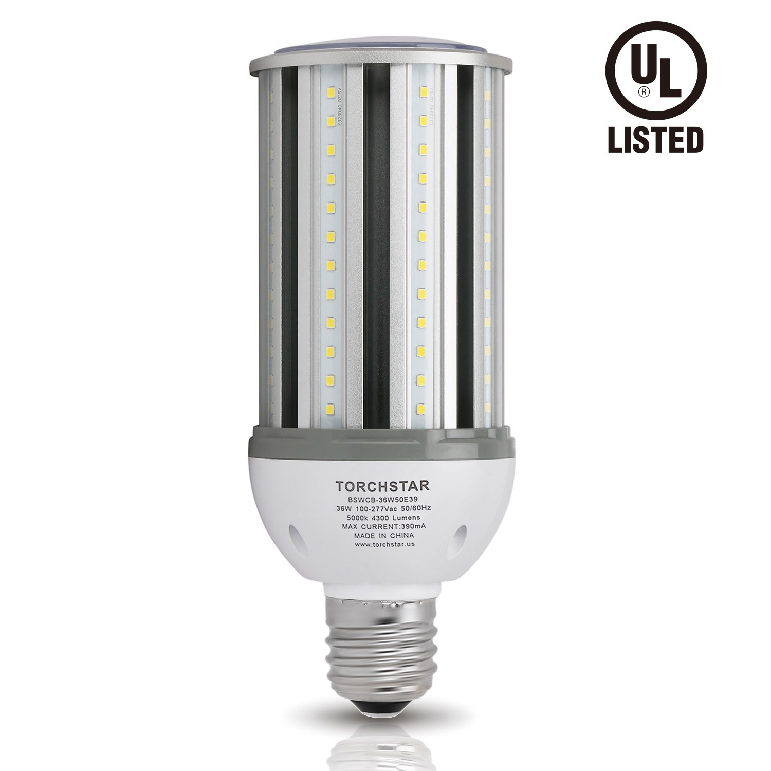 TORCHSTAR 36W LED Lights Corn Light Bulb, E39 Base, 5000K Daylight