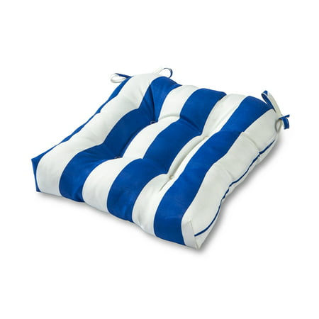 Cabana Stripe 20 in. Square Plush Outdoor Chair Cushion ()