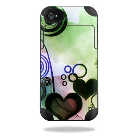 Mightyskins Protective Vinyl Skin Decal Cover for Mophie Juice Pack Plus iPhone 4 / 4S External Battery Case wrap sticker skins Abstract Hearts