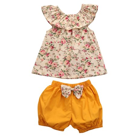 Walmart Baby Girl Clothes Amazing 60 Pcs Summer Newborn Baby Girl Clothes Set Floral Tank Top Bow