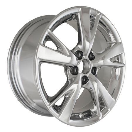 2009-2010 Lexus IS250  18x8.5 Alloy Wheel, Rim Rear Light PVD Chrome Full Face Painted - 74217 Chrome Lexus Rear Lights