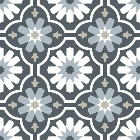 FloorPops Sevilla Peel & Stick Vinyl Floor Tiles 10 Tiles/10 sq. ft. Self Stick Vinyl Tile