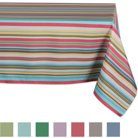Table Striped (Design Imports Casual Rectangle Summer Stripe Outdoor Tablecloth, 84