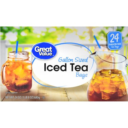 Great Value Iced Tea Bags Gallon Sized 24 Oz Count