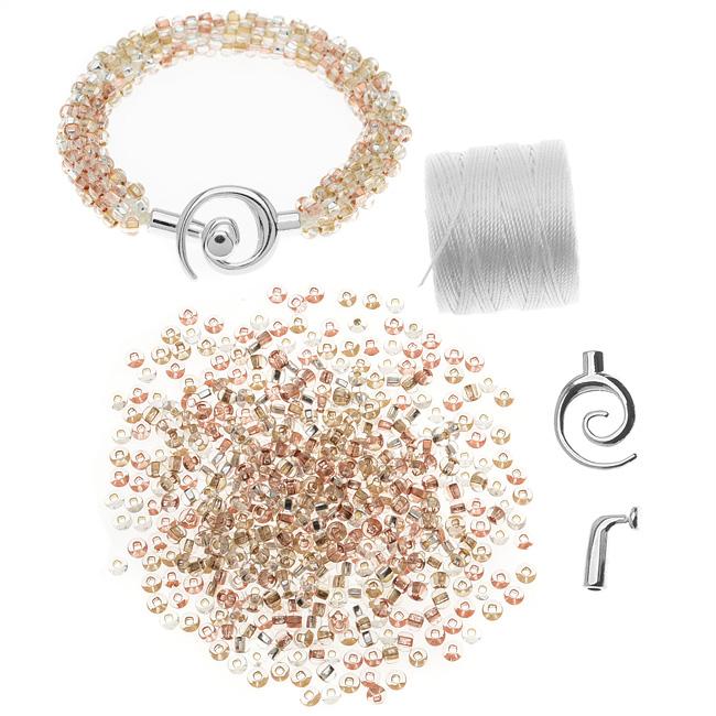 Refill - Beaded Kumihimo Bracelet (Metallic Tones) - Exclusive Beadaholique Jewelry Kit