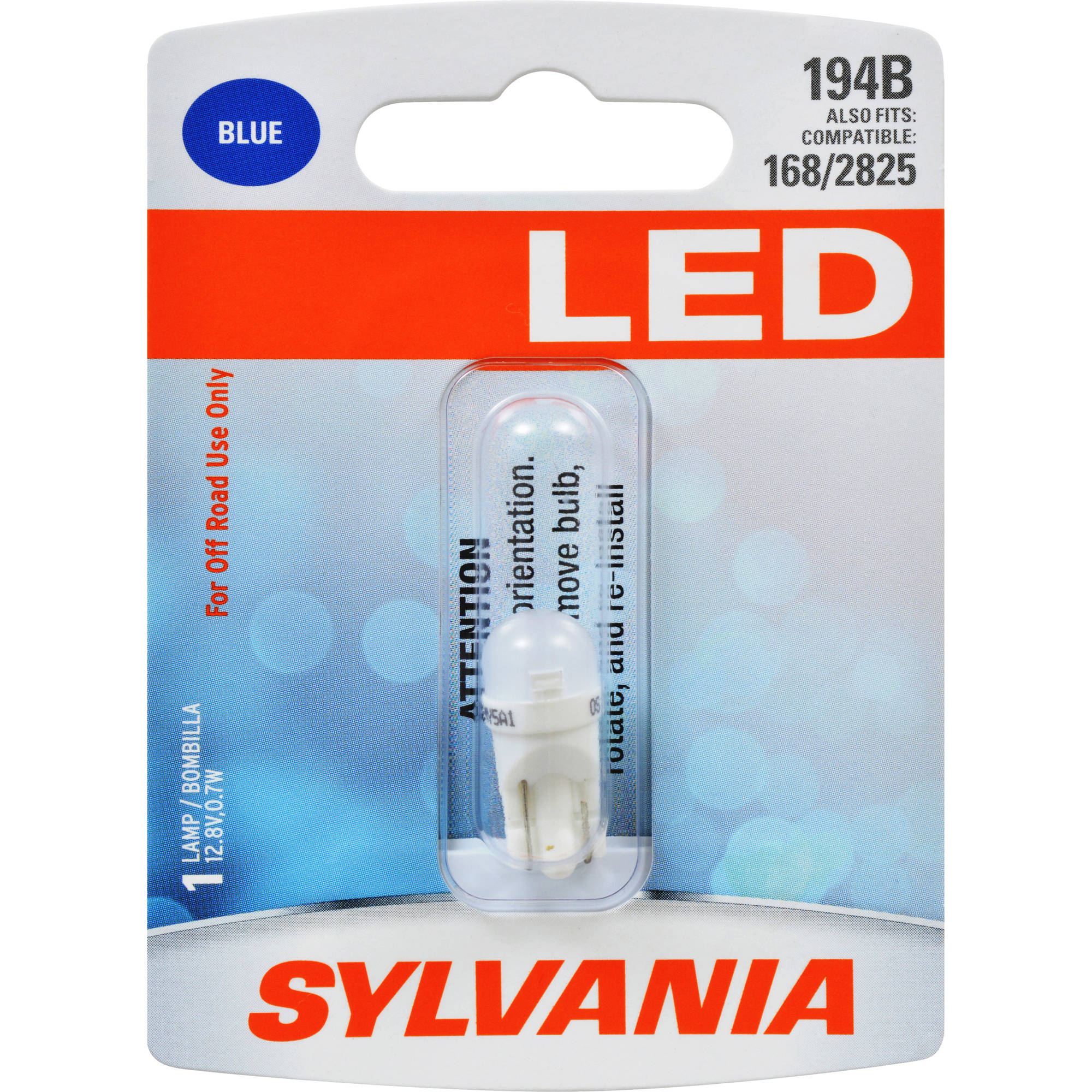 Sylvania 194B SYL LED Mini Bulb, Contains 1 Blue Bulb by Osram Sylvania Inc.
