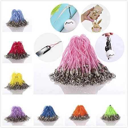 MINI-FACTORY 100 X Pcs Mix-Colors Colorful Cords Strap Lariat With Lobster Clasp for Cellphone / Keychain / USB