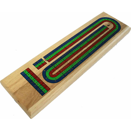 Wood Expressions 3-Track Tri-Color Wood Cribbage