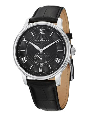 33b6eccff08 Product Image A102-02 Statesman Regalia Swiss Analog Men's Black Leather  Watch