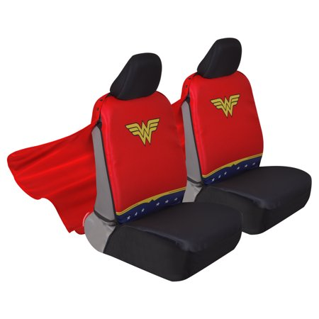 Wonder Woman Car Seat Covers With Detachable Cape Backing