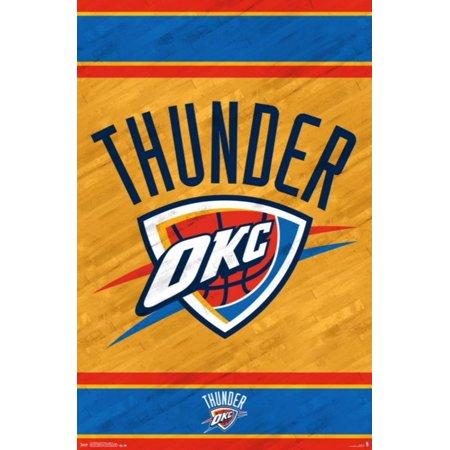 Oklahoma City Thunder - Logo 14 Poster - 22x34](Halloween Fun In Oklahoma City)