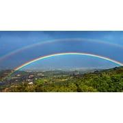 Rainbow Mountain Scene Photo License Plate