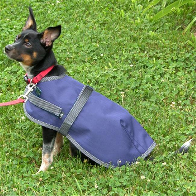 High Spirit 266NY22 22 in. Dog Rain Coat, Navy & Grey - image 1 of 1