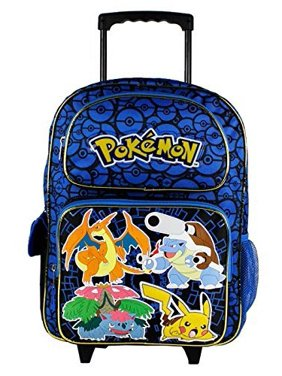Product Image Nintendo Pikachu 16 Blue and Black School Rolling Backpack 91a12481ad