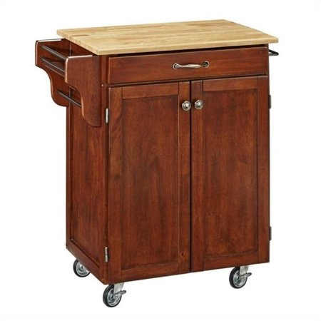 Hawthorne Collections Hardwood Kitchen Cart in Cherry