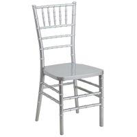 A Line Furniture Plaza Resin Ball Room Silver Chiavari Chairs
