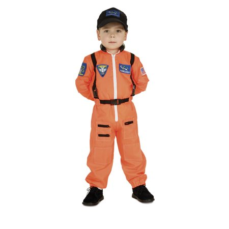 Child Astronaut Costume (Orange) Halloween Costume SML 4-6 fits 3-5 yr