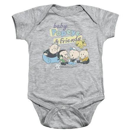 Popeye/Baby Popeye & Friends   Infant Snapsuit   Heather    (24 Mos)  Pye632 (Popeyes Baby)