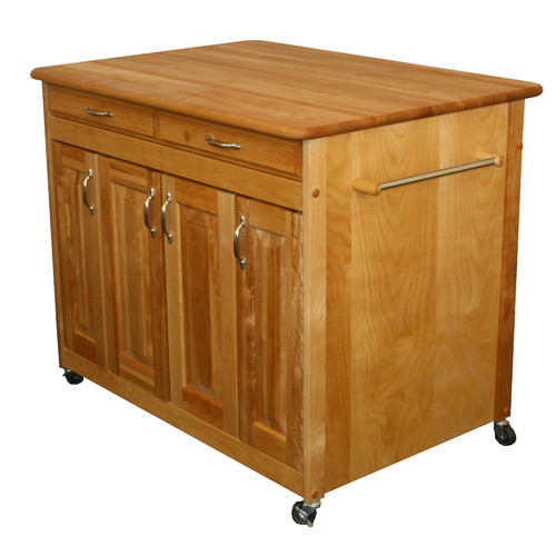 Catskill Craftsmen, Inc. Kitchen Island with Butcher Block Top