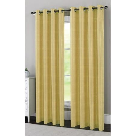 Set Of 2 Devin Geometric Swirls Window Curtain Panels With Grommets  84   Long  Gold