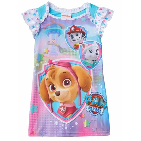 572382a677 PAW Patrol - Nickelodeon Toddler Girls Paw Patrol Night Gown Skye Everest &  Marshall Nightie - Walmart.com