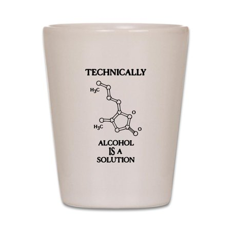 Halloween Themed Alcohol Shots (CafePress - Alcohol, A Solution - White Shot Glass, Unique and Funny Shot)