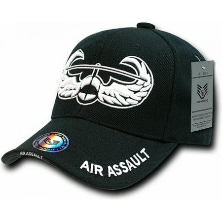 RapDom Air Assault Badge The Legend Milit Mens Cap [Black - Adjustable]