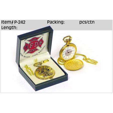 Golden Fire Fighter Pocket Watch