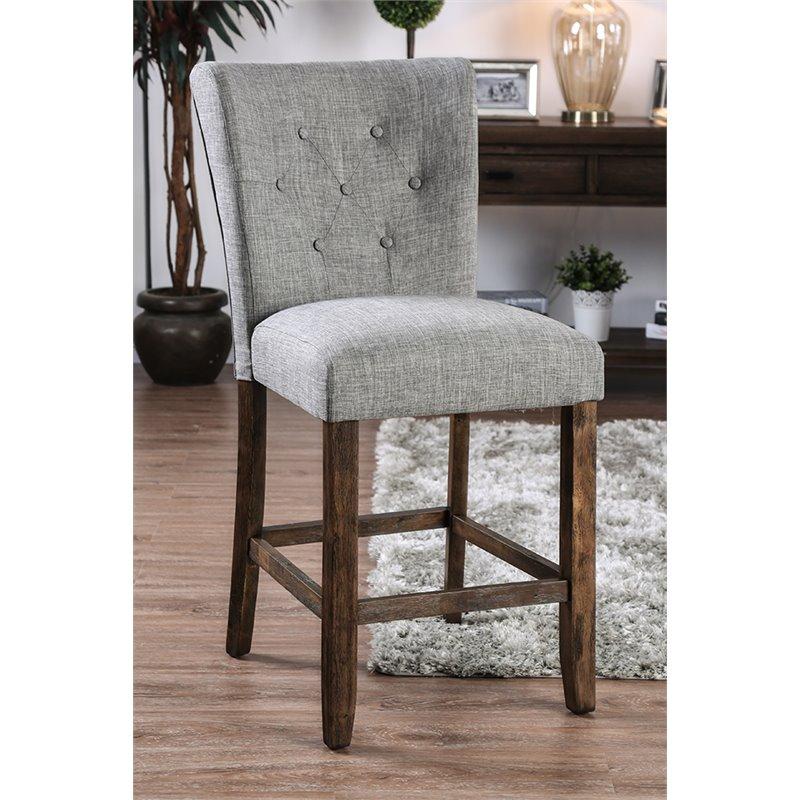 Furniture Of America Norton 26 Inch Counter Stool In Gray Set Of 2 Walmart Com Walmart Com