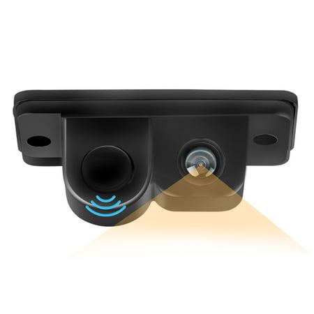 Auto Parking Sensor - Night Vision 2 in 1 Car SUV Reverse Parking Radar Auto Rear View Backup 170 Degree Wide Viewing Angle Sensor Camera Kit