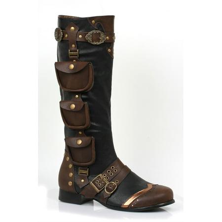121-AMOS, 1'' Heel Knee High Mens Boots