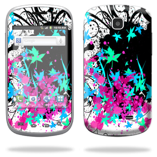 Mightyskins Protective Skin Decal Cover for Samsung Galaxy Appeal I827 Cell Phone AT&T wrap sticker skins Leaf Splatter