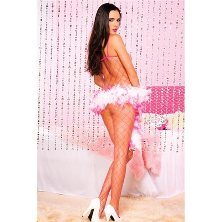 88b55f74872 Fence Net Spaghetti Straps Spandex Bodystocking  44  Neon Pink ...