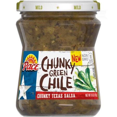 Pace Salsa, Chunky Green Chile, 15 Ounce