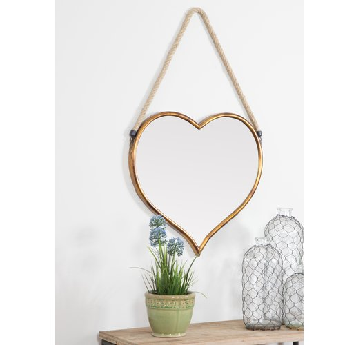 Bungalow Rose Earnest Heart Accent Wall Mirror