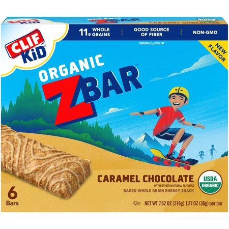 CLIF Kid Organic ZBaR, Caramel Chocolate, 6 Ct