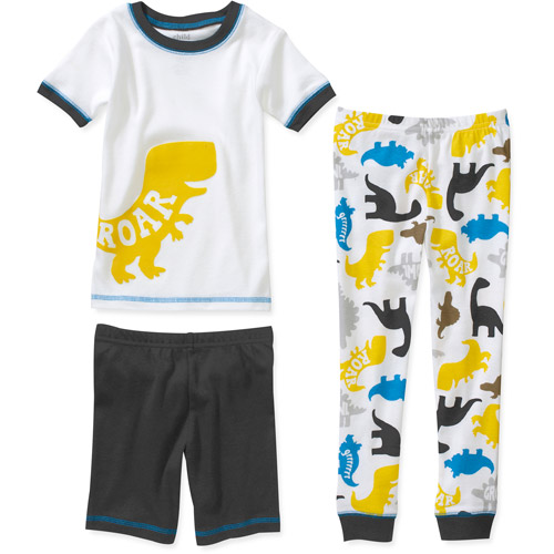 Child of Mine by Carters Baby Boys' 3 Piece Cotton Dino Roar Short Sleeve Pajama Set