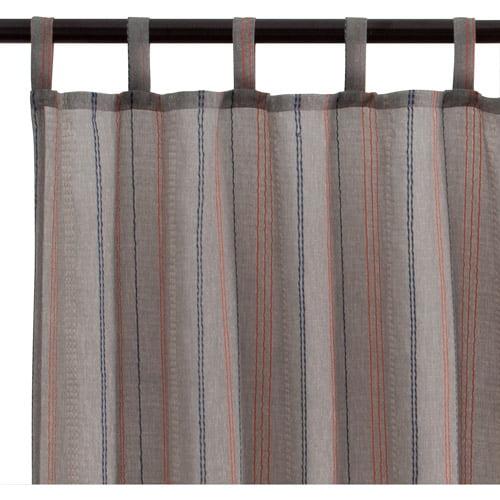 Sabrina Stitch Curtain Panel, Gray
