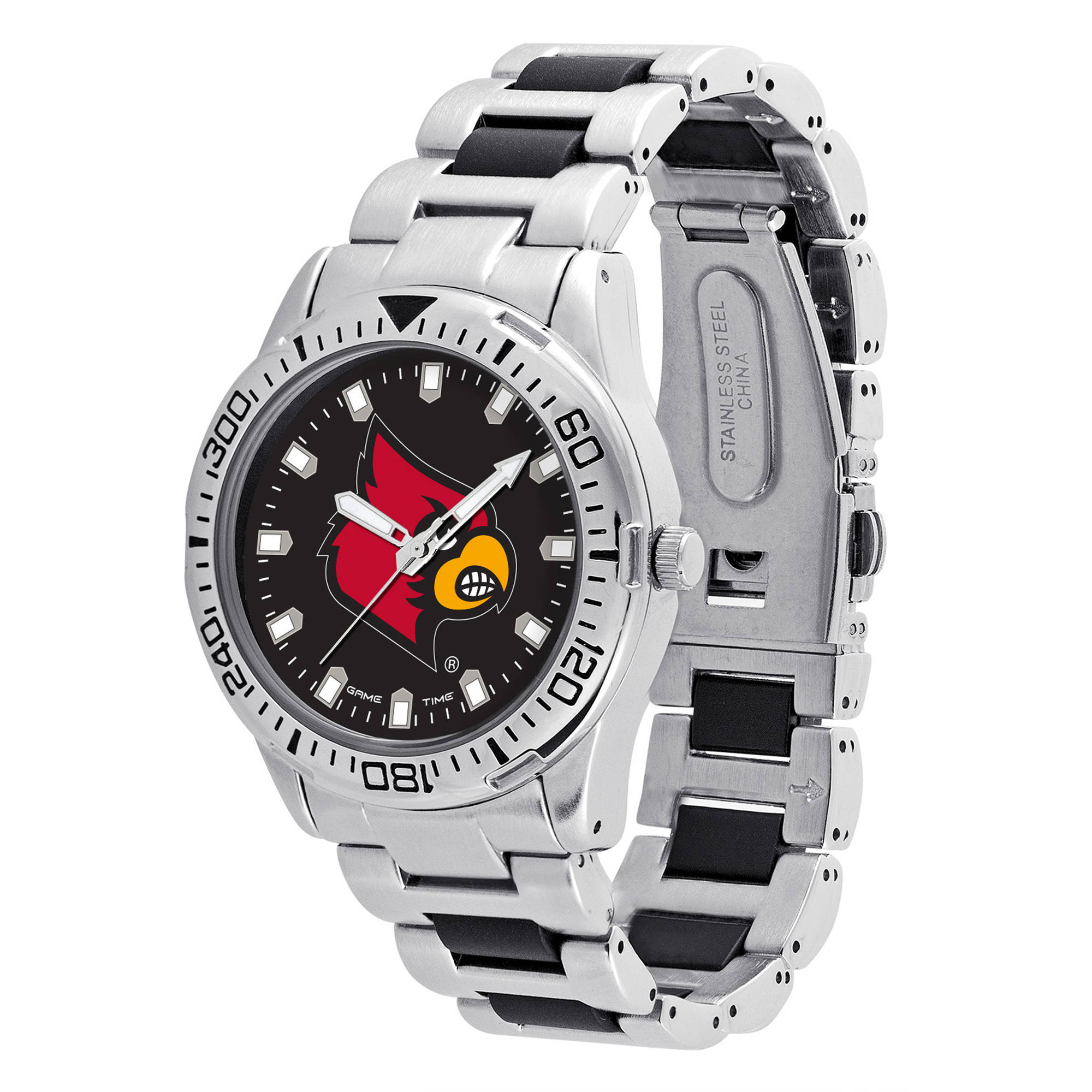 Game Time NCAA Men's University of Louisville Cardinals Heavy Hitter Watch