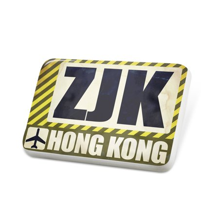 Porcelein Pin Airportcode ZJK Hong Kong Lapel Badge – NEONBLOND - Halloween Menu Hong Kong