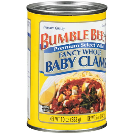 Bumble Bee Premium Select Wild Fancy Whole Baby Clams 10 oz