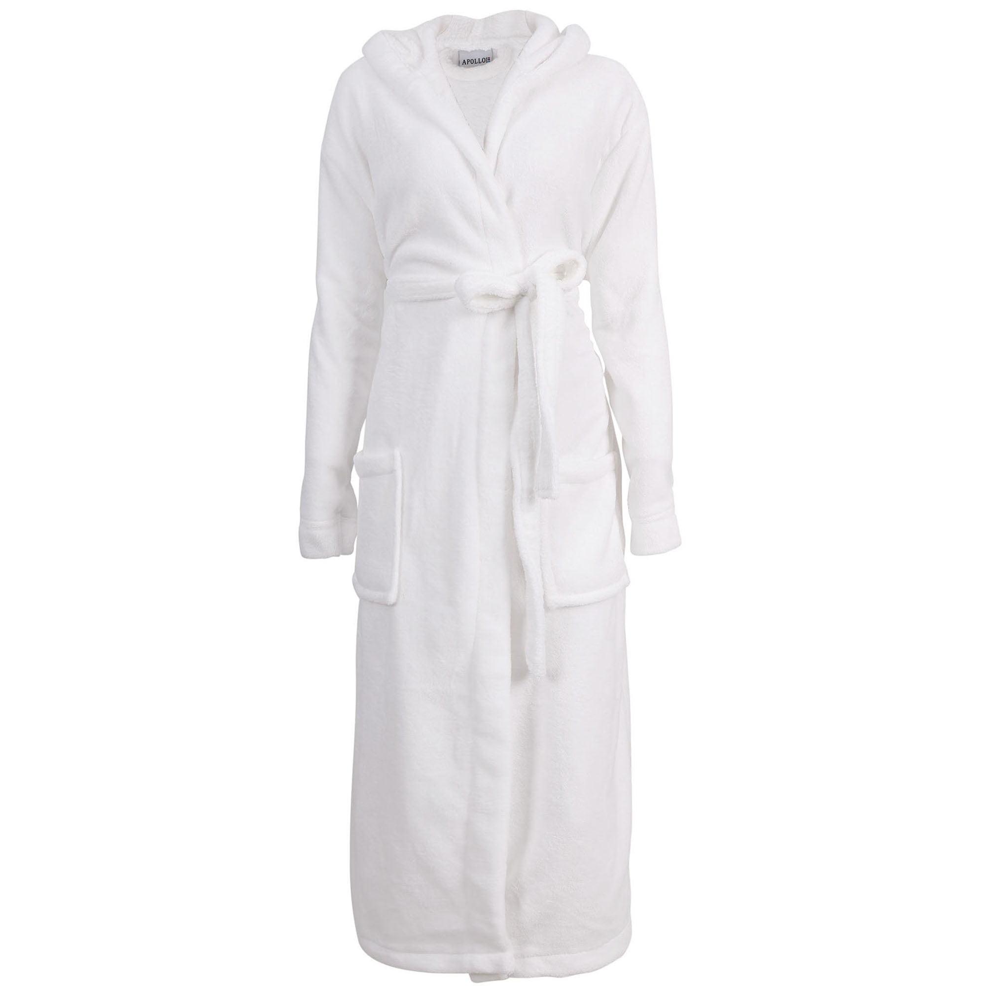 BASILICA - Men s Hotel Fleece Terry Pocketed Bathrobe Robe with Hood ... 634e6785a