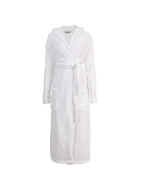 7402de8f1c Product Image Bathrobes for Women Hooded Robe Plush Soft Warm Fleece  Bathrobe