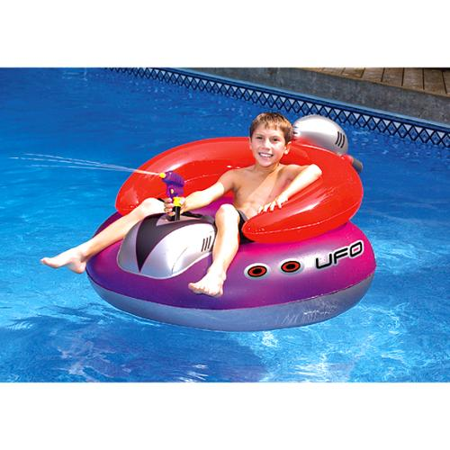 Swimline 9078 Swimming Pool UFO Squirter Toy Inflatable Lounge Chair Float