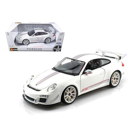 (Porsche 911 GT3 RS 4.0 White 1/18 Diecast Car Model by Bburago)