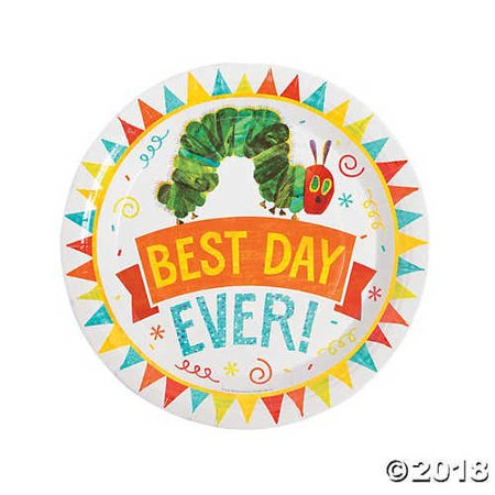 The Very Hungry Caterpillar? Paper Dinner Plates - Hungry Caterpillar Birthday