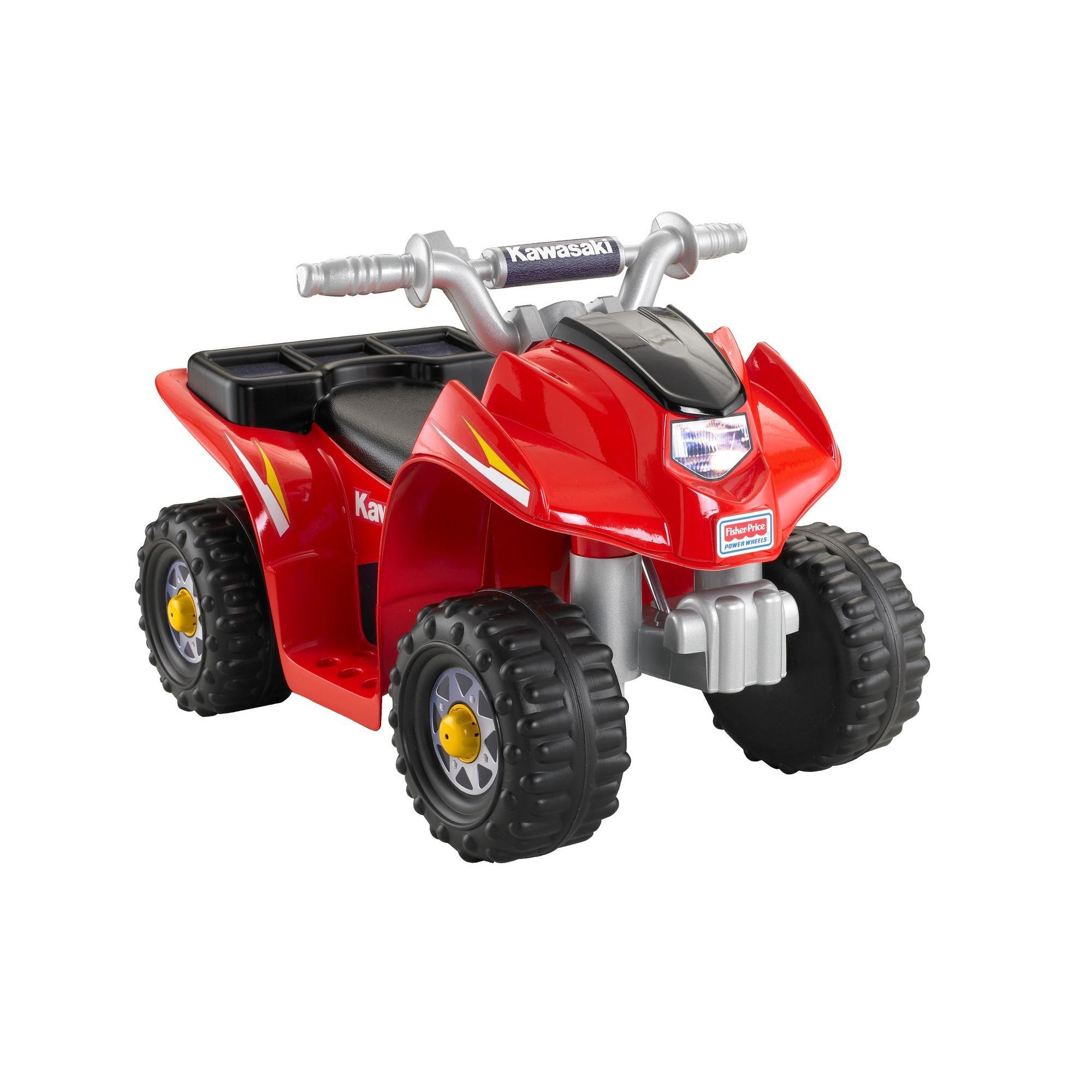 Power Wheels Lil' Kawasaki 6V Battery-Powered Ride-On Quad